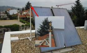 painel solar com purgador