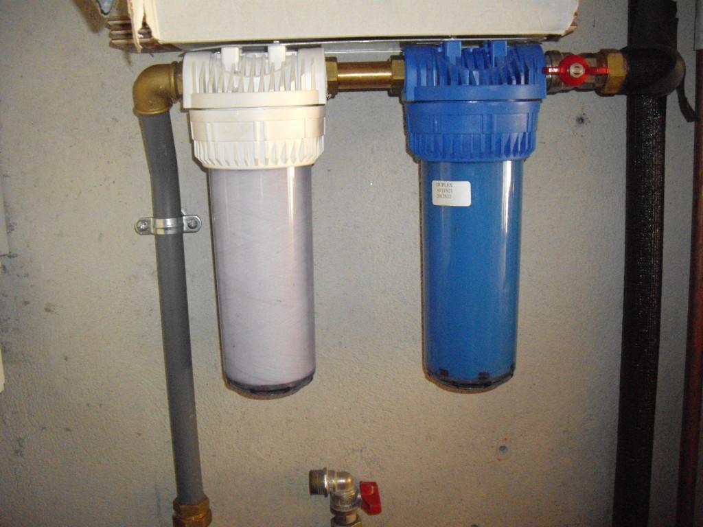 Filtros para chegada de agua